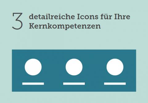 Xing Portfolio drei Icons