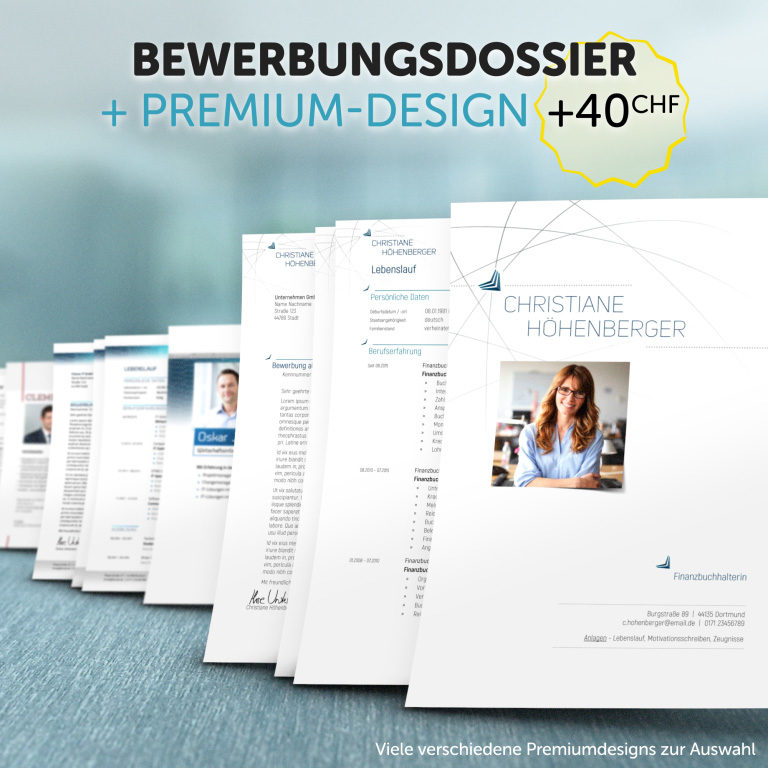 Unser Bewerbungsdossier im Premium-Design