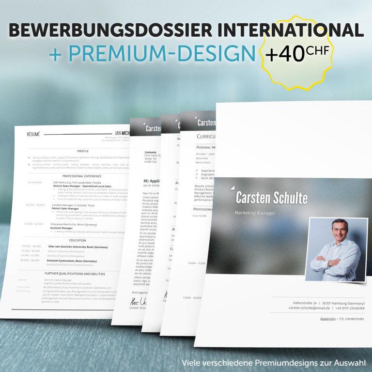 Unser Bewerbungsdossier International im Premium-Design