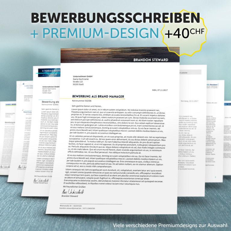 Unsere Bewerbungsschreiben im Premium-Design