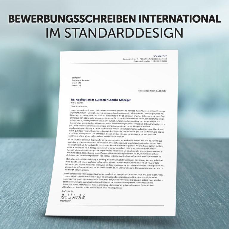 Unser Bewerbungsschreiben International im Standard-Design