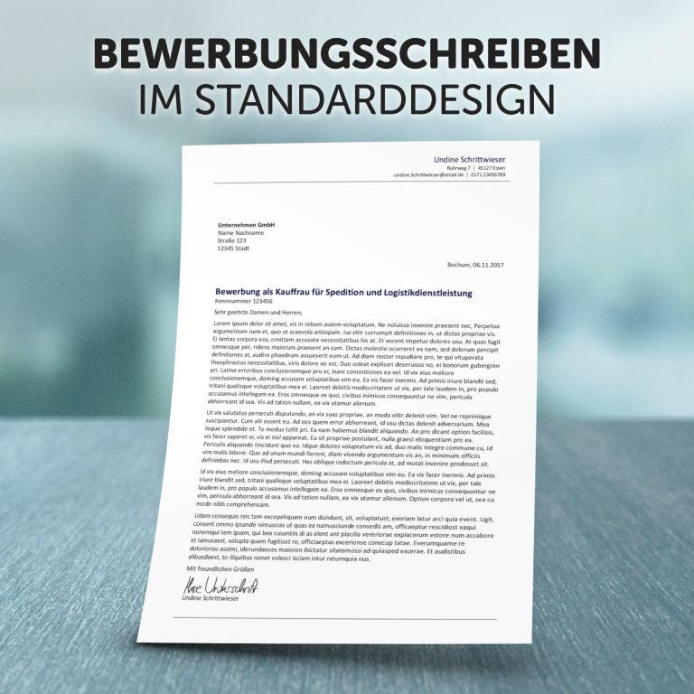 Unser Bewerbungsschreiben Standard-Design
