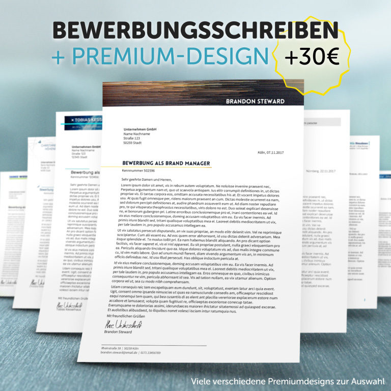 Unser Bewerbungsschreiben im Premium-Design