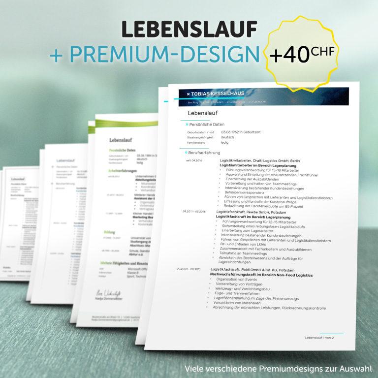 Unser Lebenslauf im Premium-Design