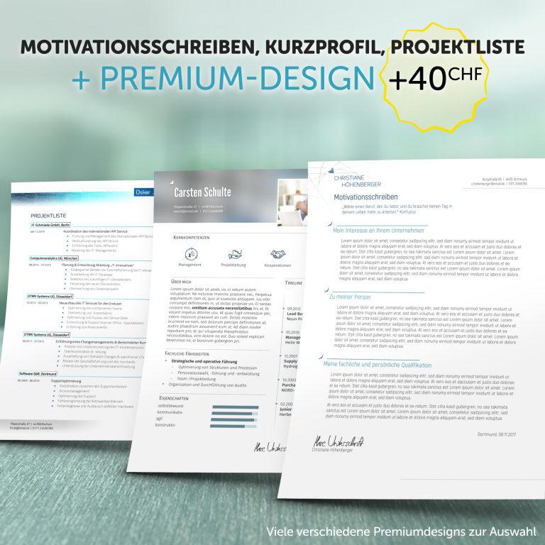 Ausgewählte Zusatzprodukte im Premium-Design