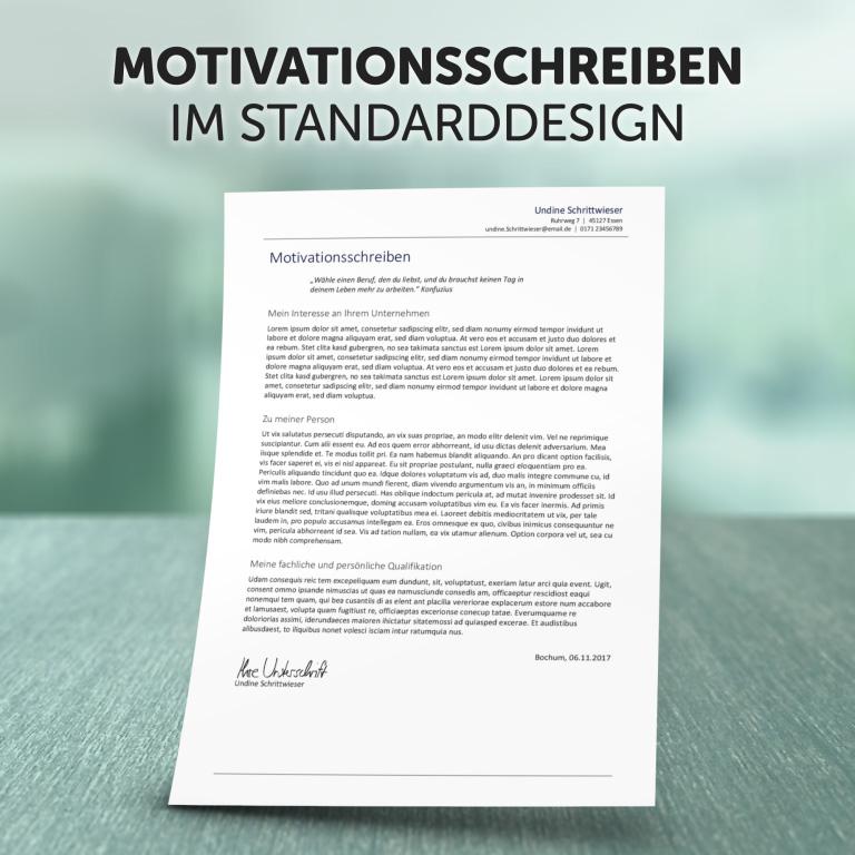 Zusatzdokument Motivationsschreiben