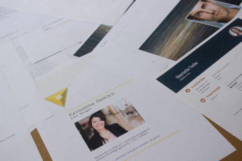 Deckblatt und Bewerbung